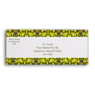Mustard Yellow And Olive Green Retro Wallpaper Envelopes