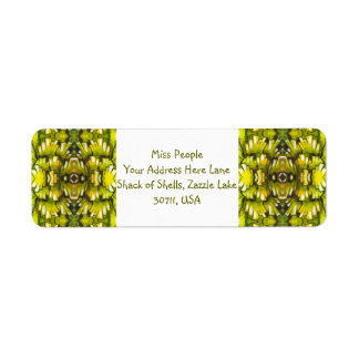 Mustard Yellow And Olive Green Retro Wallpaper Pat Label