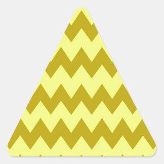 Mustard Yellow Chevron Stickers