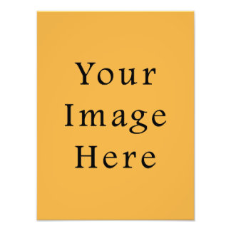 Mustard Yellow Color Trend Blank Template Photo Print