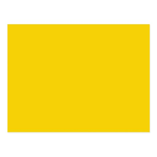 mustard yellow dark yellow color solid background postcard