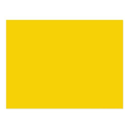 Mustard yellow dark yellow color solid background postcard zazzle