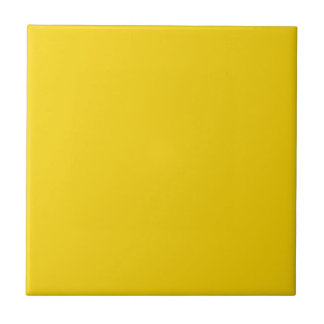Mustard Yellow Dark Yellow Color Solid Background Ceramic Tile