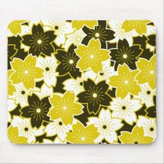 Mustard Yellow Floral Mousepad