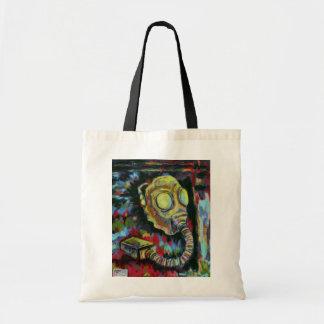 Mustard yellow, Gas Mask Tot-Bag Art Tote Bag