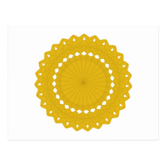 Mustard Yellow Round Graphic. Postcard