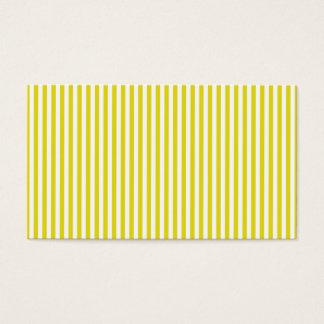 mustard yellow striped business card