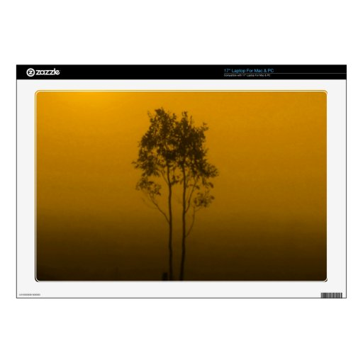 Mustard Yellow Trees Zazzle Skin Decals For Laptops