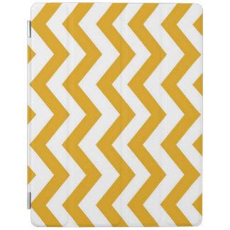 Mustard Yellow White Chevron Zig Zag iPad Smart Cover