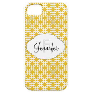 Mustard Yellow & White Personalized iPhone 5 iPhone SE/5/5s Case