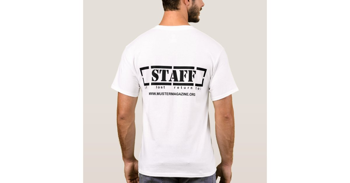 Muster event staff t shirt zazzle for Event staff shirt ideas