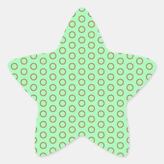 muster moteados tocan ligeramente polka dots pünkt pegatina en forma de estrella