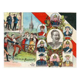 Mustering Postcard
