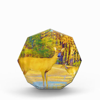 Musturd Colored Deer with light blue Awards