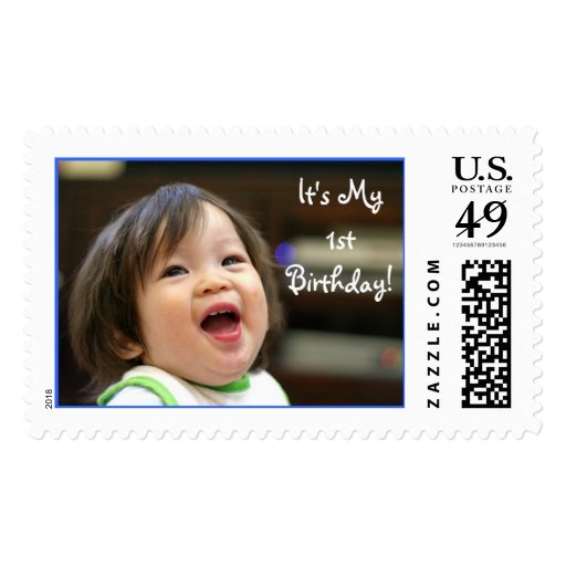 Must've Been Funny, It's My 1st Birthday! Postage