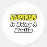 Musulmanes de la felicidad… pegatinas redondas