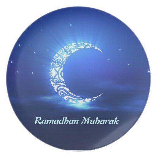 Musulmanes del Islam de la placa de Ramadhan Mubar Platos Para Fiestas