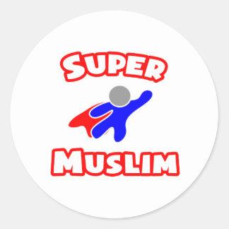 Musulmanes estupendos pegatina redonda