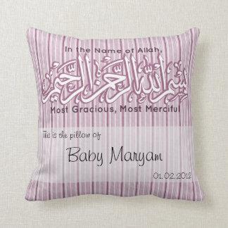 Musulmanes islámicos de Aqiqah del nombre del bebé Cojin