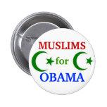 Musulmanes para el botón de Obama 2012 Pins
