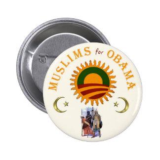 Musulmanes para Obama Pin Redondo De 2 Pulgadas