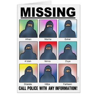 ¡Musulmanes que falta! Tarjeta De Felicitación