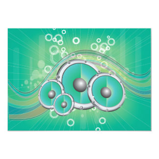 Musy Soned Background Vector Graphic.ai 5x7 Paper Invitation Card