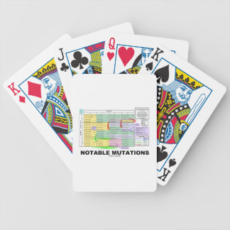 Mutaciones notables aminoácidos de la genética barajas de cartas