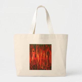 Mutaciones rojas del bosque (diseño rojo del surre bolsa de mano