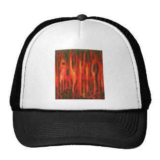 Mutaciones rojas del bosque (diseño rojo del surre gorras de camionero