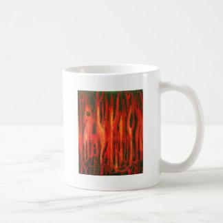 Mutaciones rojas del bosque diseño rojo del surre tazas de café