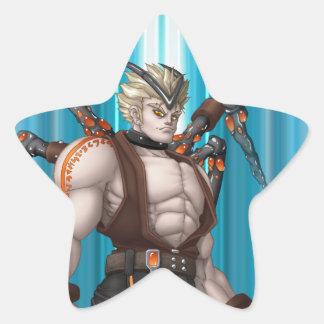 Mutant Anime Hero Sticker