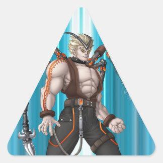 Mutant Anime Hero Triangle Stickers