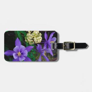 Mutant Columbine Wildflowers Bag Tag