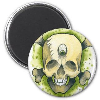 mutant skull 2 inch round magnet