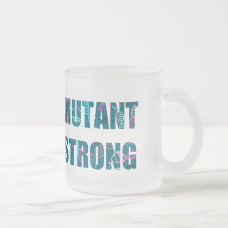 Mutant Strong Helix DNA Frosted Glass Coffee Mug