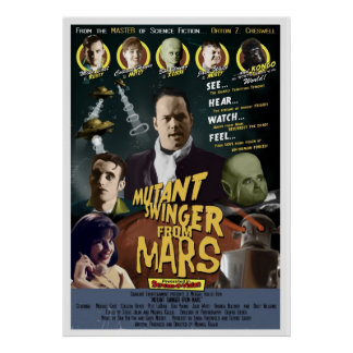 Mutant Swinger from Mars One Sheet STYLE A Poster