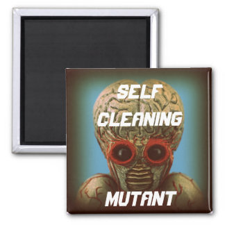 Mutante de la limpieza de uno mismo imán cuadrado