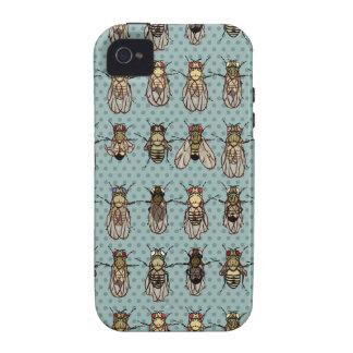 Mutantes de la Drosophila iPhone 4 Carcasas