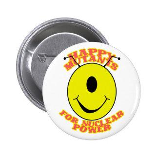 Mutantes felices para el botón de encendido nuclea pin