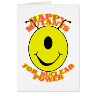 Mutantes felices para la tarjeta de la energía ató