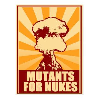 mutants for nukes postcard