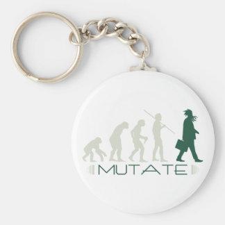 Mutate Basic Round Button Keychain
