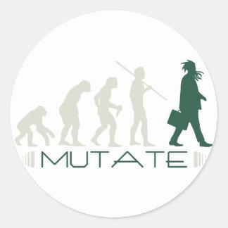 Mutate Classic Round Sticker