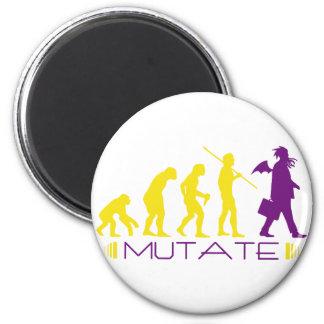 mutatepurple 2 inch round magnet