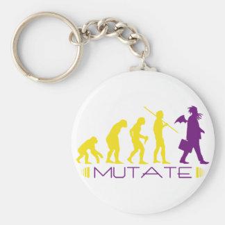 mutatepurple basic round button keychain