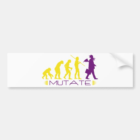 mutatepurple bumper sticker