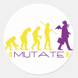 mutatepurple classic round sticker
