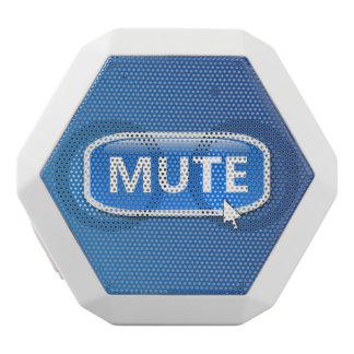 Mute button. white bluetooth speaker
