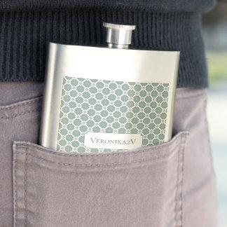Mute green tile pattern. Add custom text. Flask